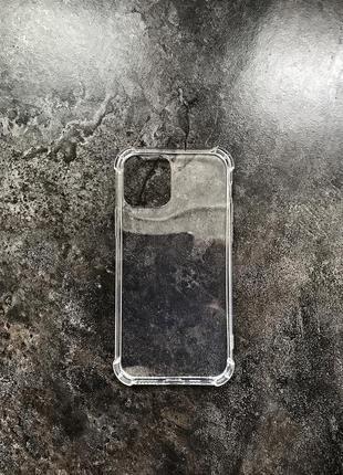 Уценка! прозрачный противоударный чехол tpu apple iphone 12/12 pro защитный чохол айфон