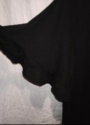 Платье мини чёрное трикотажное короткий рукав6 фото