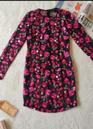Платье сетка вышитые цветы ефектна сукня‼️