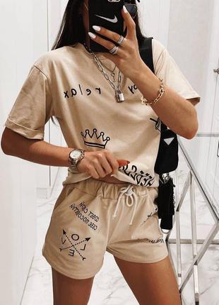 Костюм шорты + футболка 👍тренд сезона👍2 фото