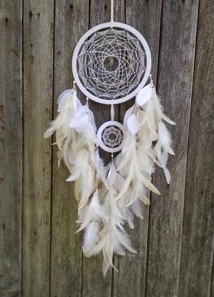 Большой белый ловец снов. оригинальный подарок