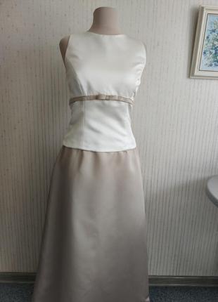 Платье длинное вечернее свадьба выпускной alfred angelo4 фото