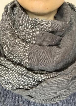 Стильный жатый платок бактус  cannise