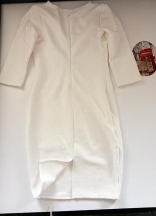 Белое платье 44-46р3 фото