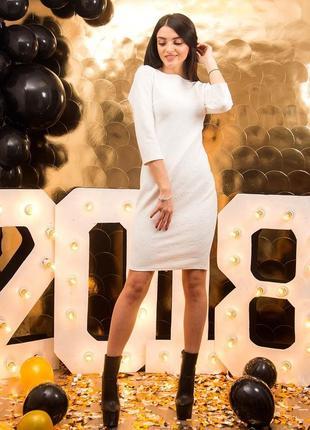 Белое платье 44-46р
