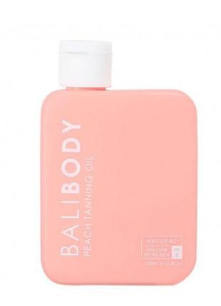 🍑масло для загара bali body peach tanning oil spf6, 100мл.