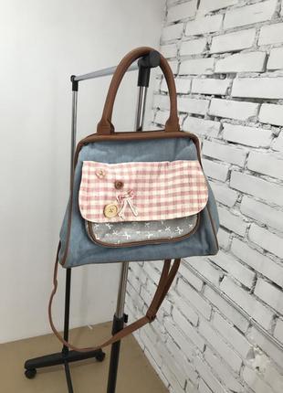 Джинсовая сумочка сумка на лето