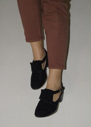 В наличии туфли seven под замш c перфорацией1 фото