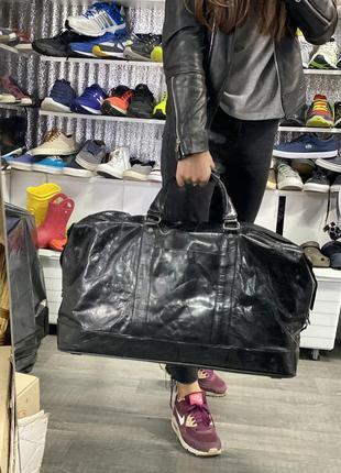 Кожаная сумка большая