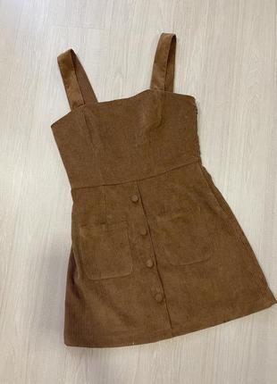 Комбинезон вельветовый платье2 фото