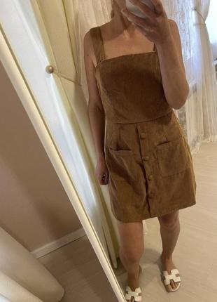 Комбинезон вельветовый платье4 фото