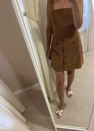 Комбинезон вельветовый платье5 фото