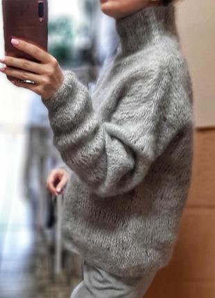 Красивый шерстяной свитер ручной работы4 фото