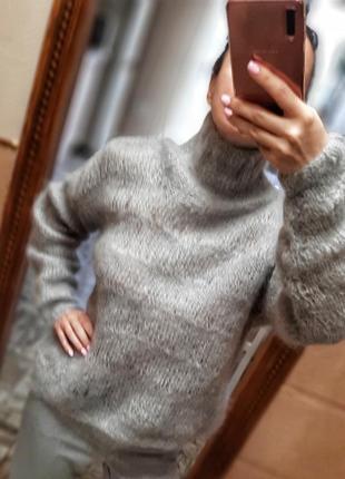 Красивый шерстяной свитер ручной работы5 фото