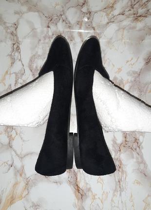 Чёрные туфли лоферы на низком ходу7 фото