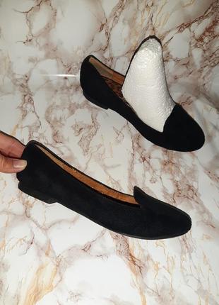 Чёрные туфли лоферы на низком ходу2 фото