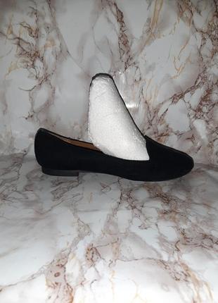 Чёрные туфли лоферы на низком ходу4 фото