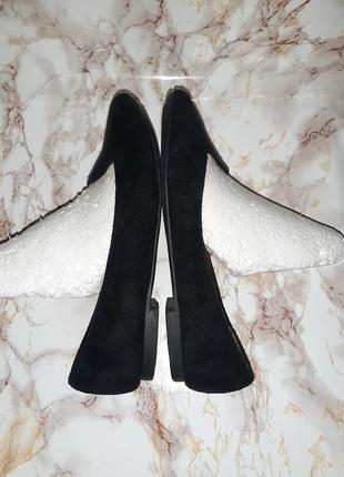 Чёрные туфли лоферы на низком ходу6 фото