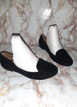 Чёрные туфли лоферы на низком ходу1 фото