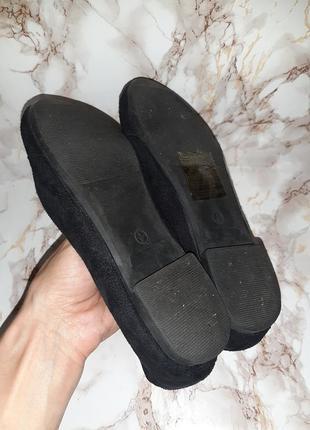 Чёрные туфли лоферы на низком ходу9 фото