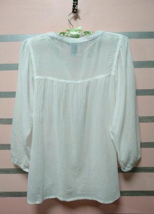 Белая лёгкая блуза марлевка h&m2 фото