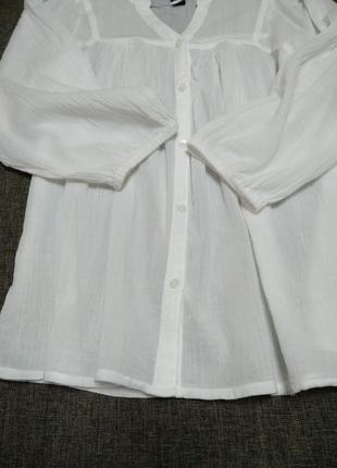 Белая лёгкая блуза марлевка h&m4 фото