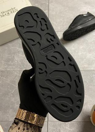 Женские кроссовки alexander mcqueen black grid5 фото