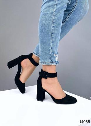 Чорні туфлі на каблуку🖤