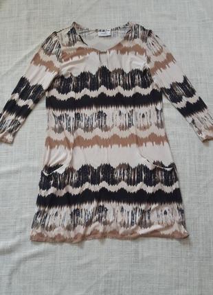 Сукня з оригінальним принтом1 фото