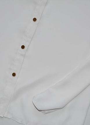 F&f красивая шифоновая блуза молочного цвета .л.12.403 фото
