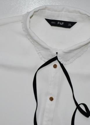 F&f красивая шифоновая блуза молочного цвета .л.12.402 фото