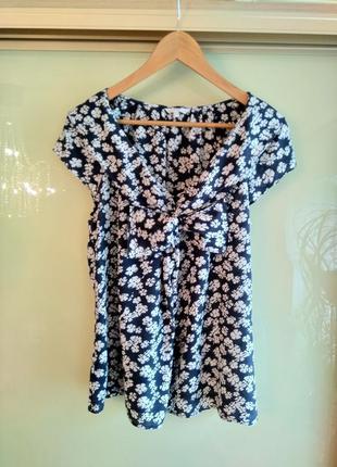 Шелковая блузка в цветочный принт kew (100% шёлк)