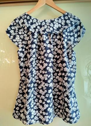 Шелковая блузка в цветочный принт kew (100% шёлк)2 фото