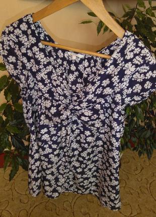 Шелковая блузка в цветочный принт kew (100% шёлк)3 фото