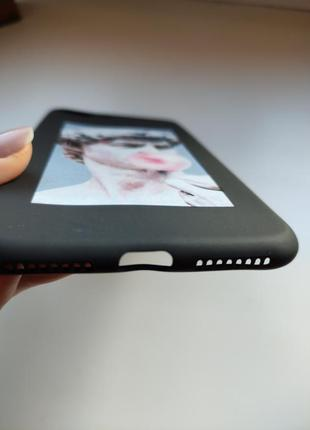 Чёрный силиконовый чехол накладка для на iphone айфон 7 плюс 8 плюс5 фото