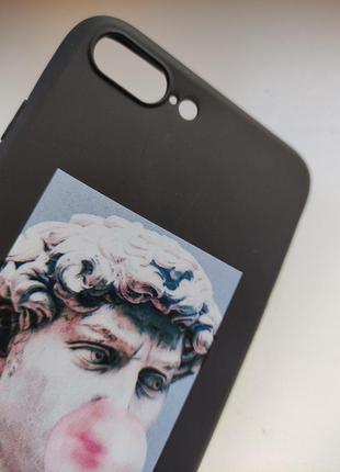 Чёрный силиконовый чехол накладка для на iphone айфон 7 плюс 8 плюс2 фото