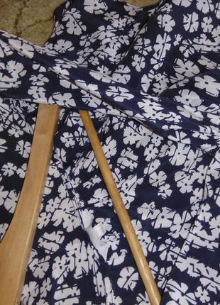 Шелковая блузка в цветочный принт kew (100% шёлк)7 фото