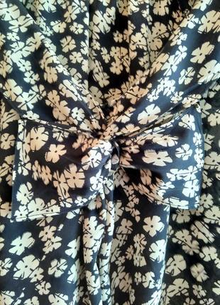Шелковая блузка в цветочный принт kew (100% шёлк)10 фото