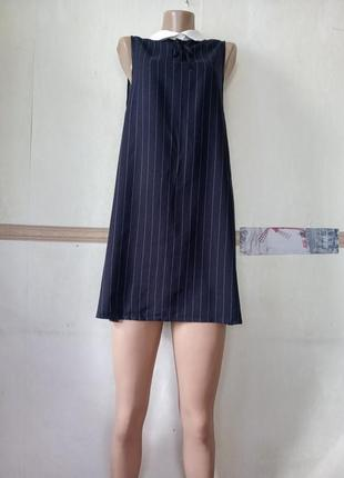 Платье в полоску pull&bear р.l