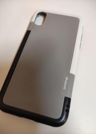 Новый прочный силикон пластик чехол на айфон iphone x xs