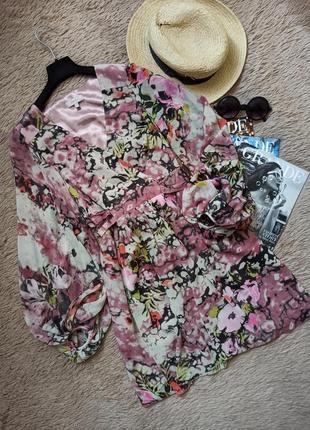 Шикарное платье на запах с поясом и объемными рукавами/плаття/сукня