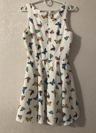 Красивое платье летнее бабочки