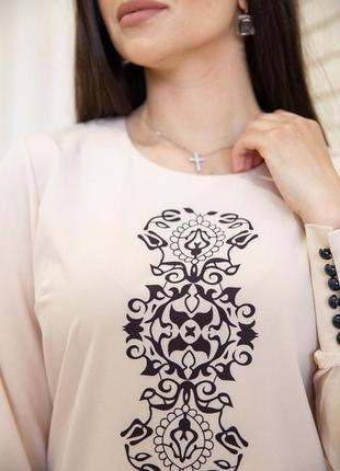 Блуза женская с орнаментом4 фото
