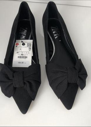 Балетки туфли мюли с бантом
