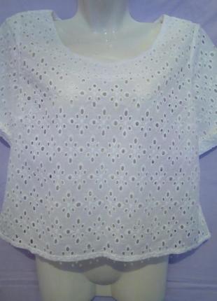Летняя укороченная блуза шитье