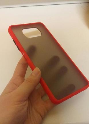 Красный + чёрный чехол силикон + пластик для на xiaomi poco x