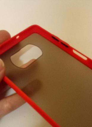 Красный + чёрный чехол силикон + пластик для на xiaomi poco x2 фото