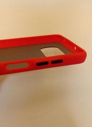 Красный + чёрный чехол силикон + пластик для на xiaomi poco x3 фото