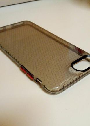 Новый прочный силиконовый чехол серого цвета на айфон iphone 8 plus2 фото