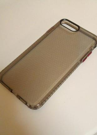 Новый прочный силиконовый чехол серого цвета на айфон iphone 8 plus